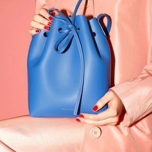 Mansur Gavriel Mini Calf Bucket Bag Royal Blue